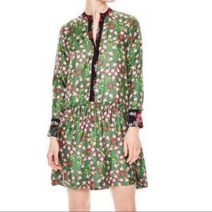 Sandro floral silk dress